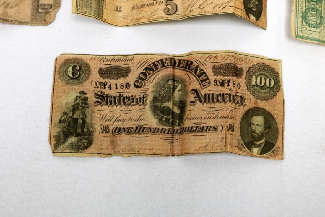 12 Confederate Currency Bills - 4