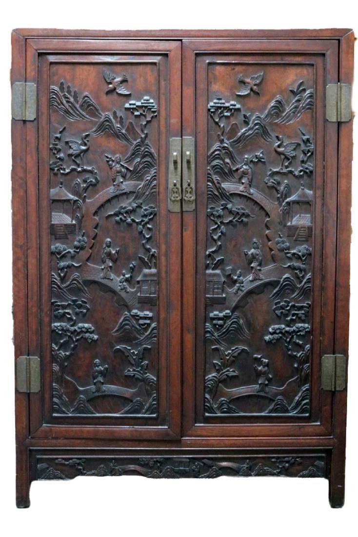 Antique Chinese Teakwood Cabinet
