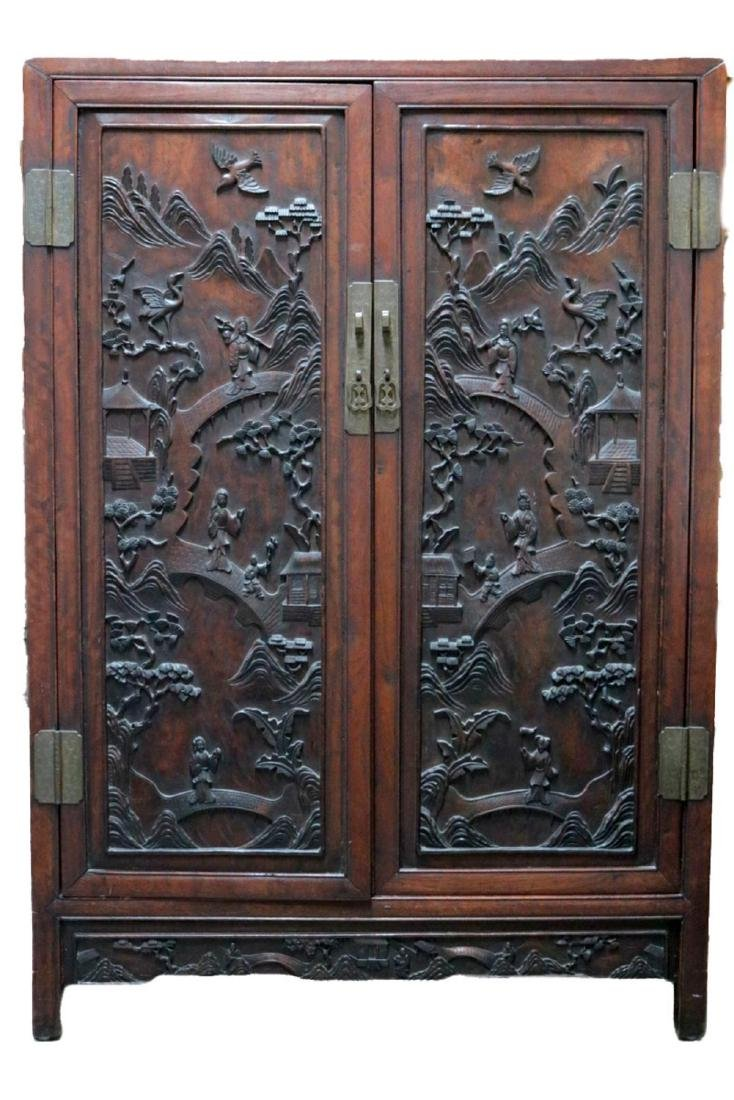 Antique Chinese Teakwood Cabinet