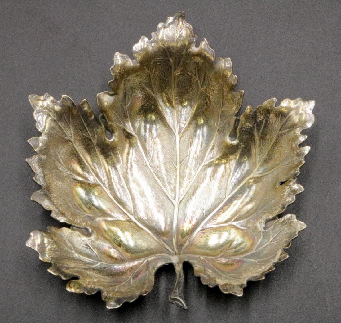 Mario Buccellati Sterling Maple Leaf Dish
