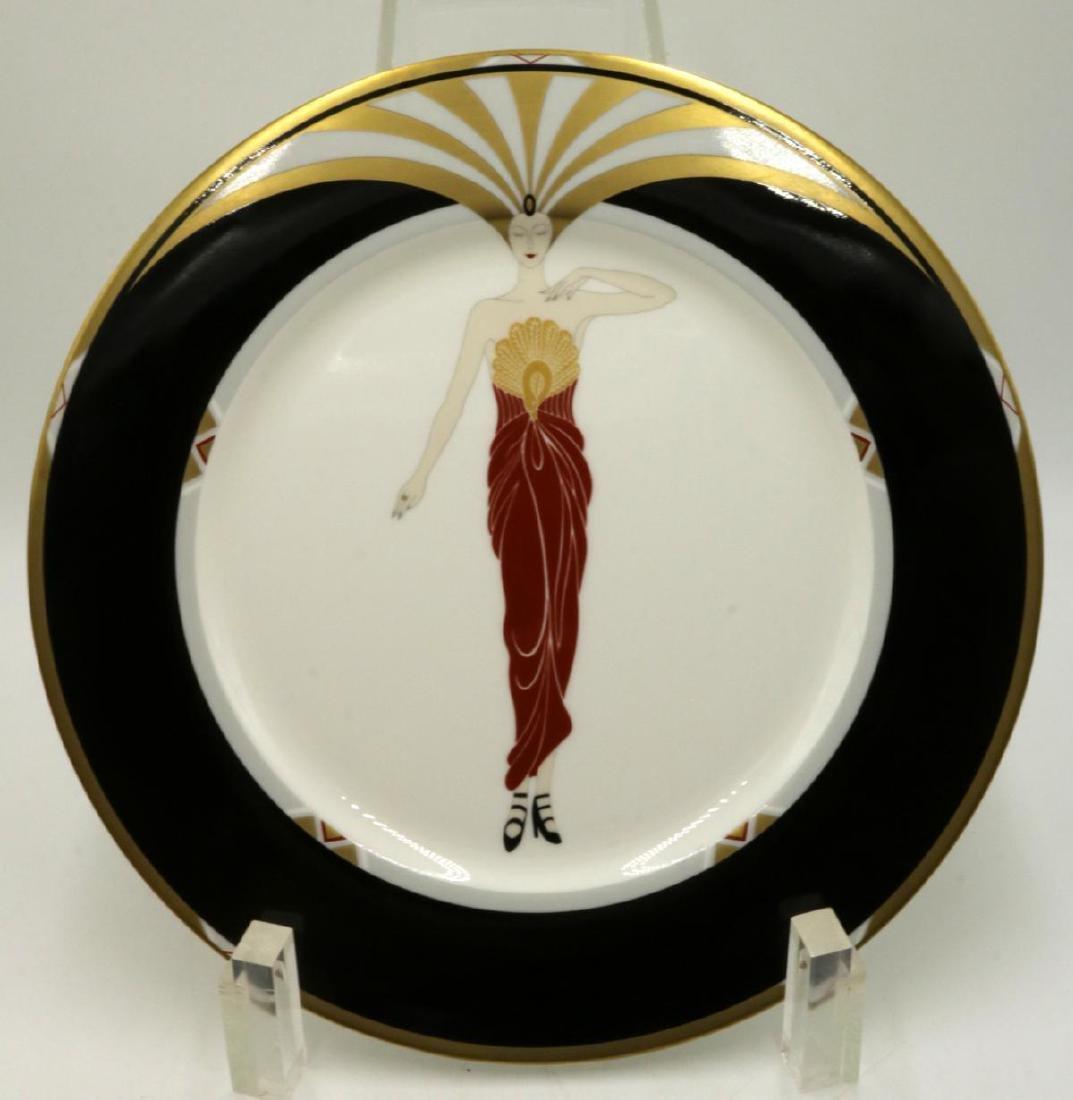 "Erte ""Le Soleil Ebony"" Plate"