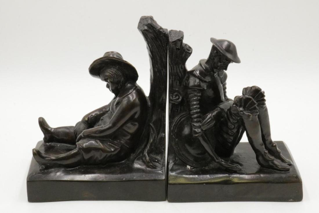 Pair of Bronze Figural Bookends