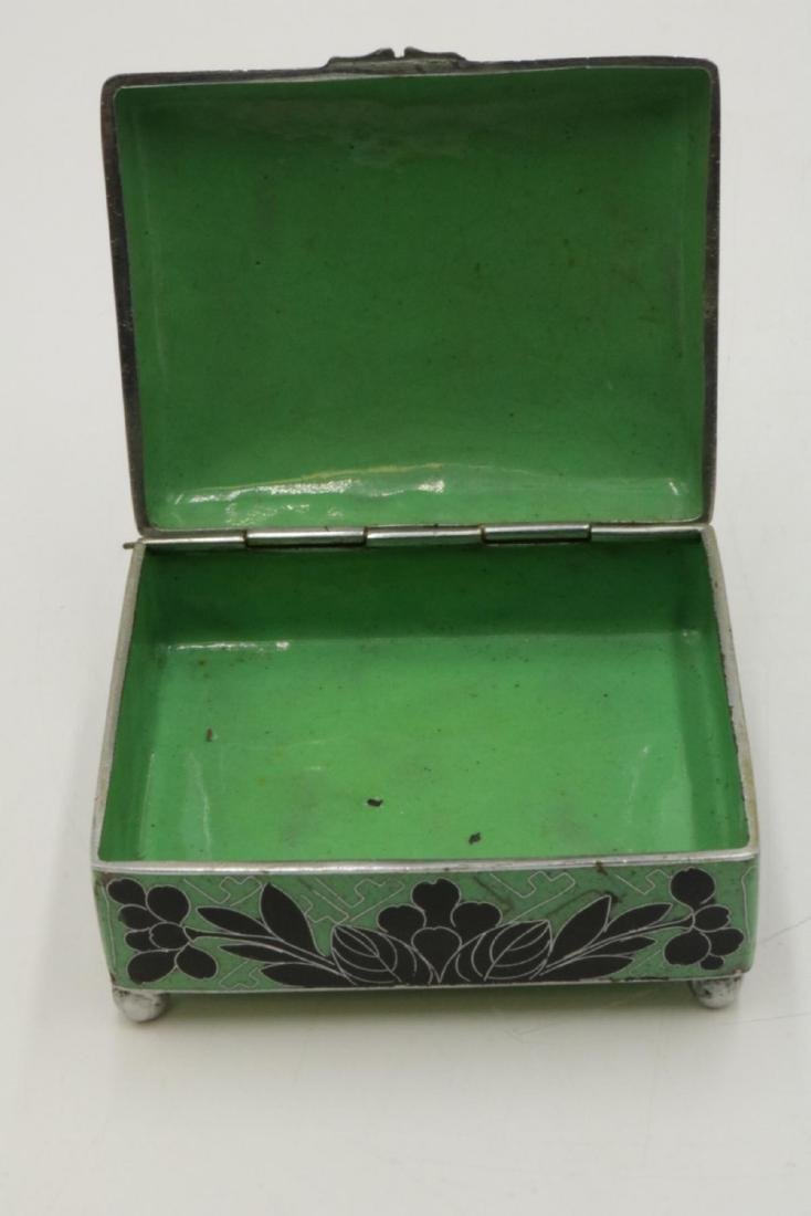 Chinese Cloisonne Covered Box - 2