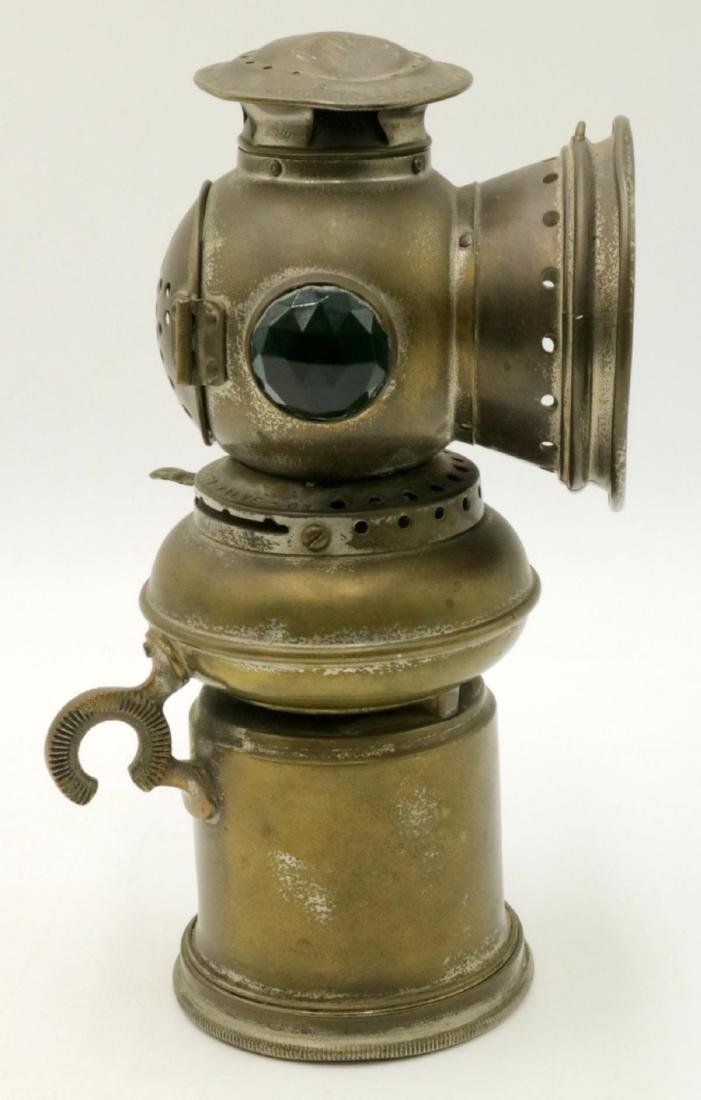 Antique EDW Miller & Co. Brass Majestic Miners Lamp