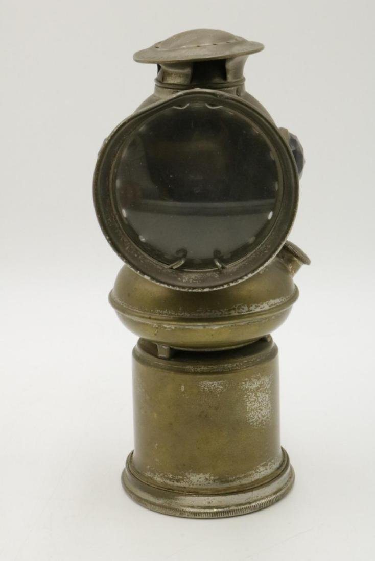 Antique EDW Miller & Co. Brass Majestic Miners Lamp - 2