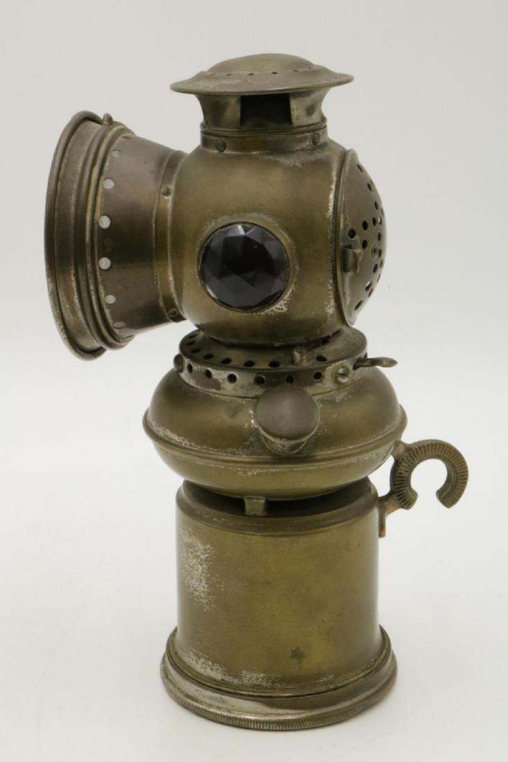 Antique EDW Miller & Co. Brass Majestic Miners Lamp - 3