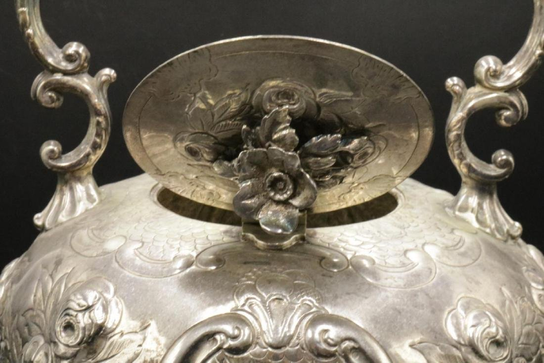 English Victorian Silver Plated Kettle on Stand - 4