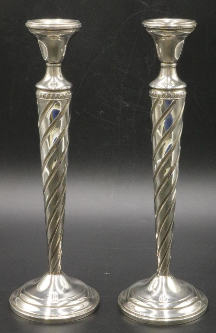 Pair of Sterling Weighted Candlesticks