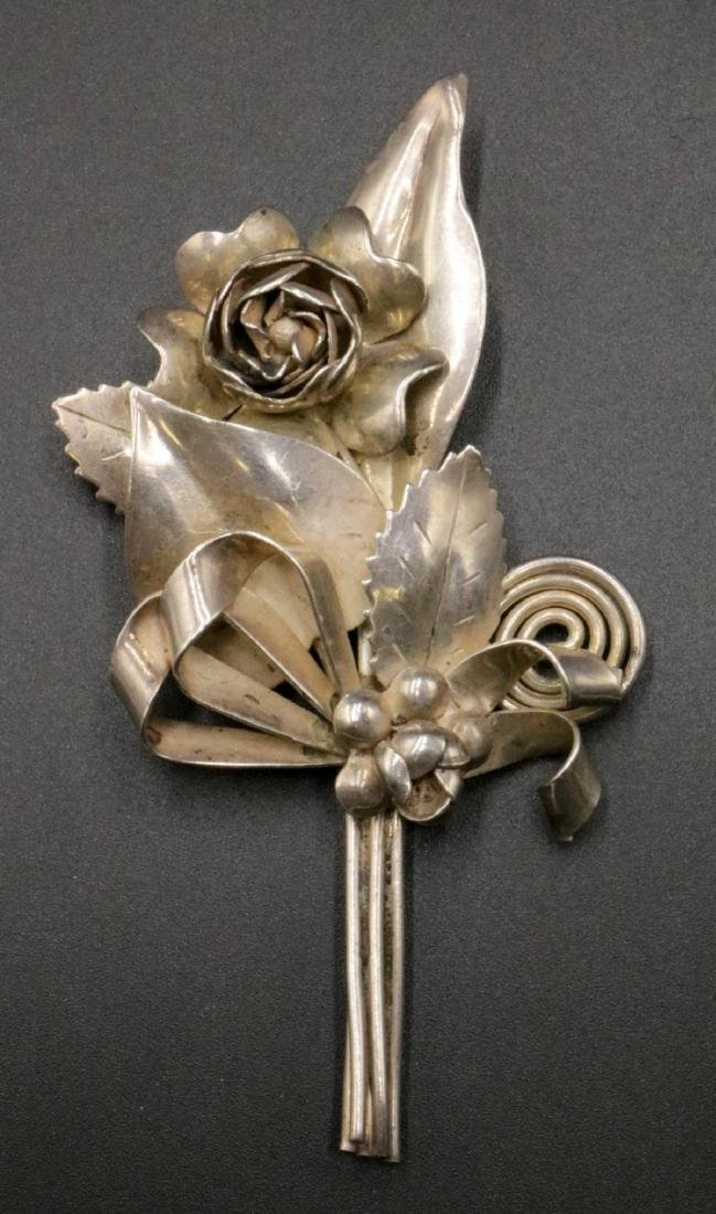 Hobe Sterling Flower Pin