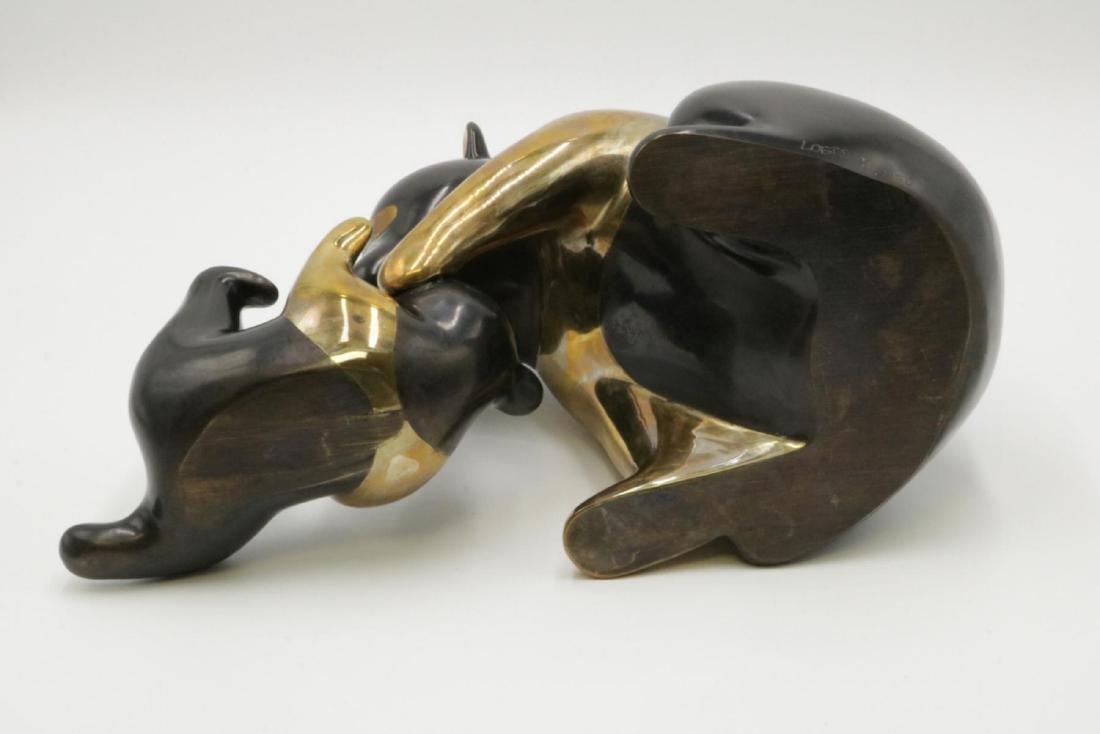 """Loet Vanderveen """"Panda & Baby"""" Bronze Sculpture - 5"""