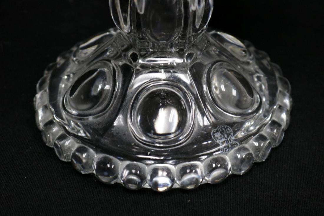 Vintage Baccarat Hurricane Girandole Crystal Lamps - 6