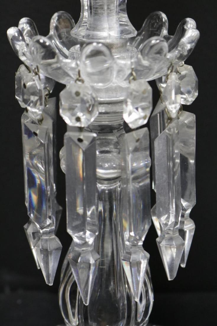 Vintage Baccarat Hurricane Girandole Crystal Lamps - 7
