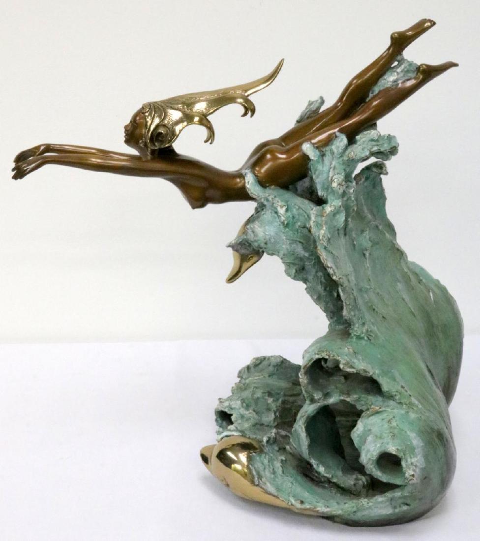 "Angelo Basso (Italian 1943-2011) ""Companions"" Bronze"