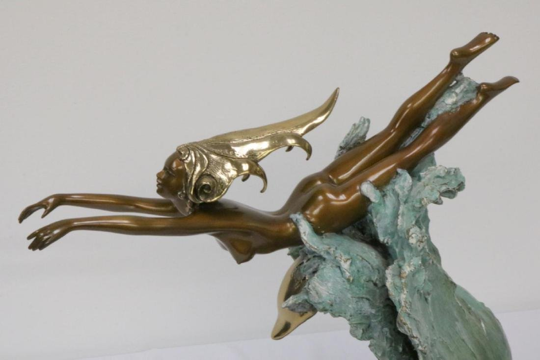 "Angelo Basso (Italian 1943-2011) ""Companions"" Bronze - 2"