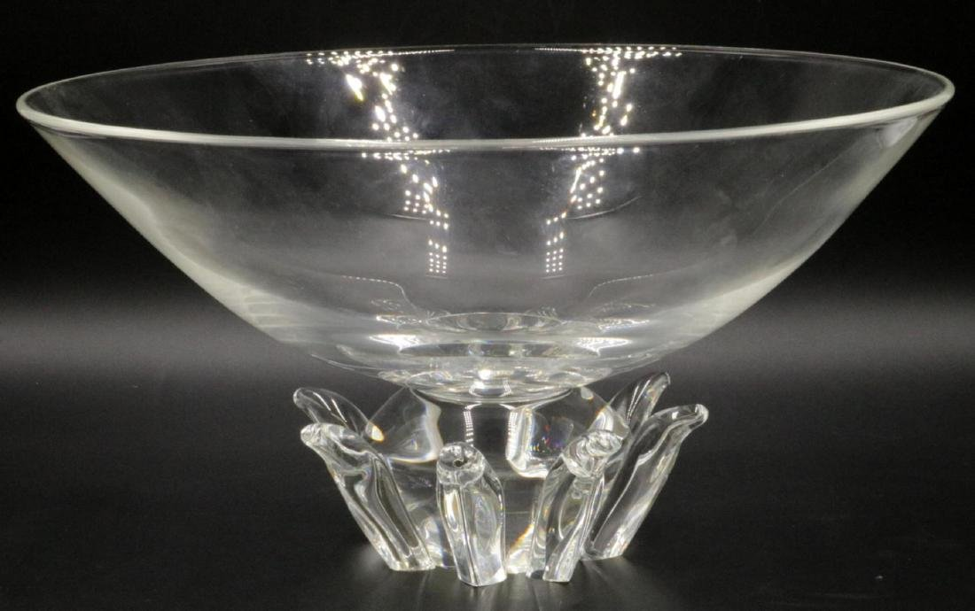 """Steuben """"Peony"""" Crystal Footed Bowl"""