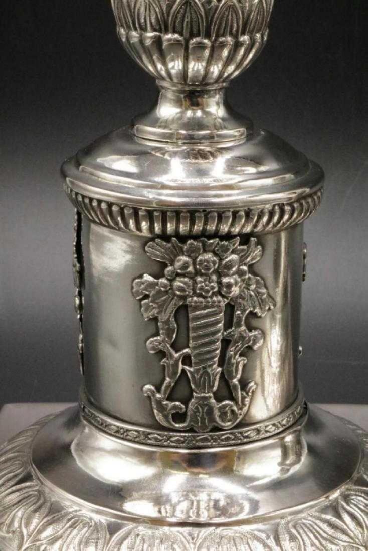 Mid 19th C. European Silver Column Candlesticks - 4