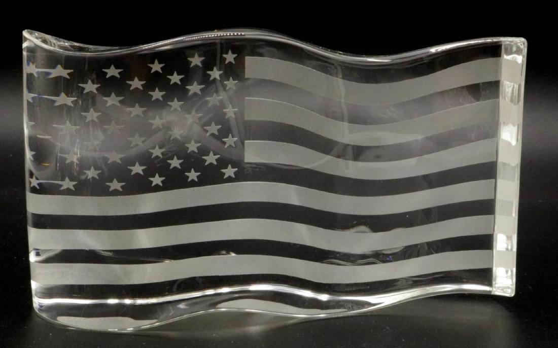 "Steuben ""America the Beautiful"" Crystal Sculpture"