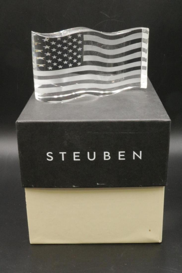 "Steuben ""America the Beautiful"" Crystal Sculpture - 4"