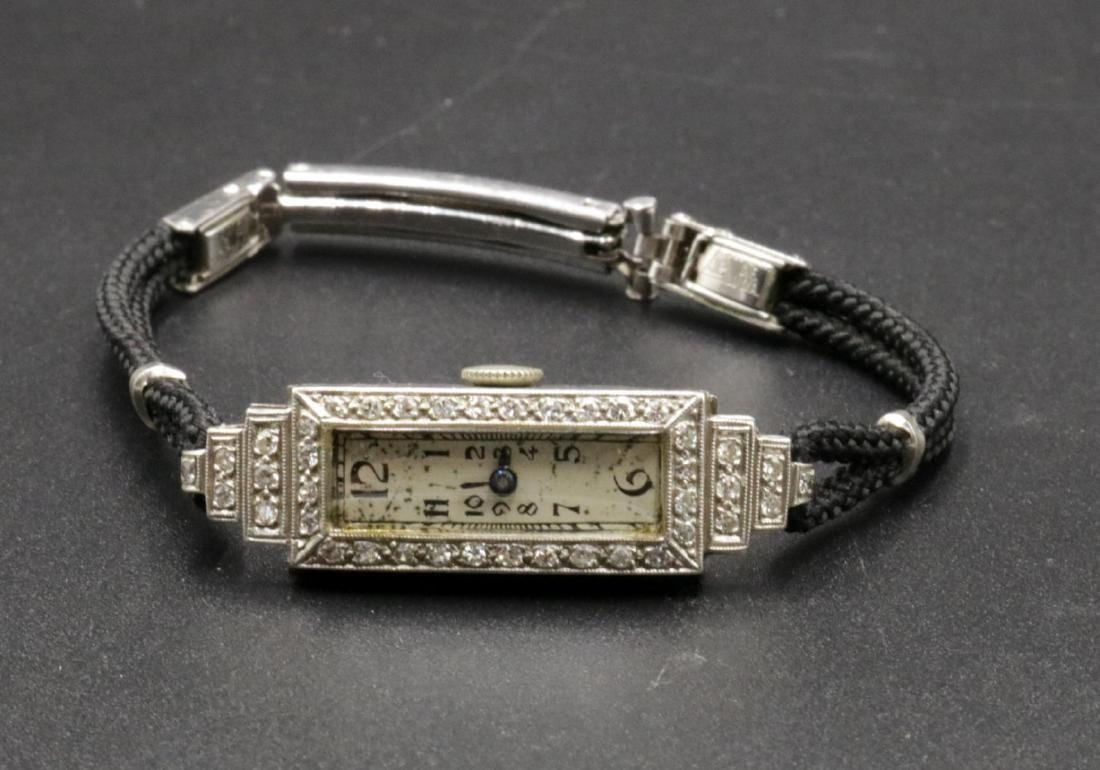 Art Deco Platinum & Diamond Ladies Watch