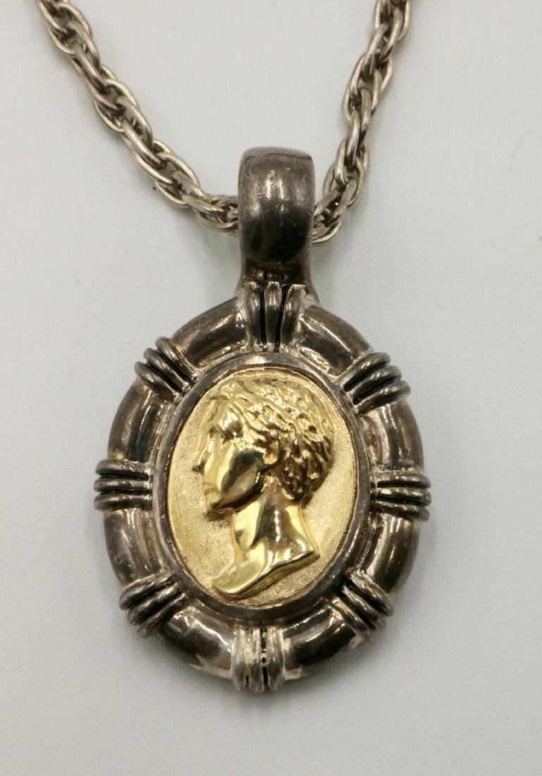 Seb SG 14Kt & Sterling Pendant w/ Necklace