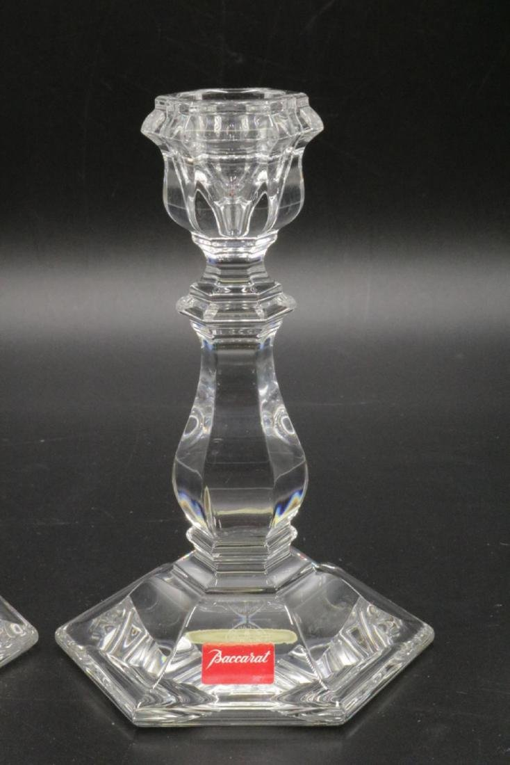 Pair of Baccarat Crystal Candlesticks - 2