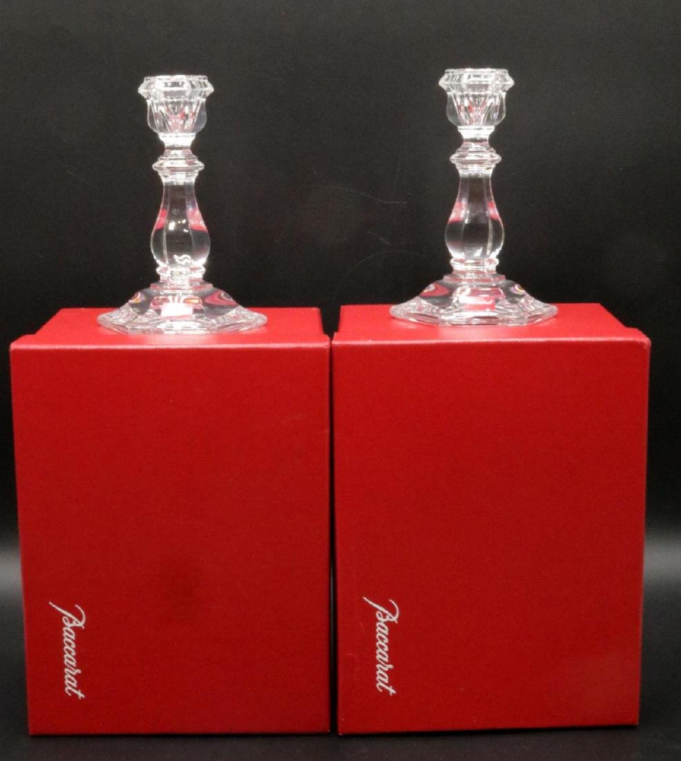Pair of Baccarat Crystal Candlesticks - 6