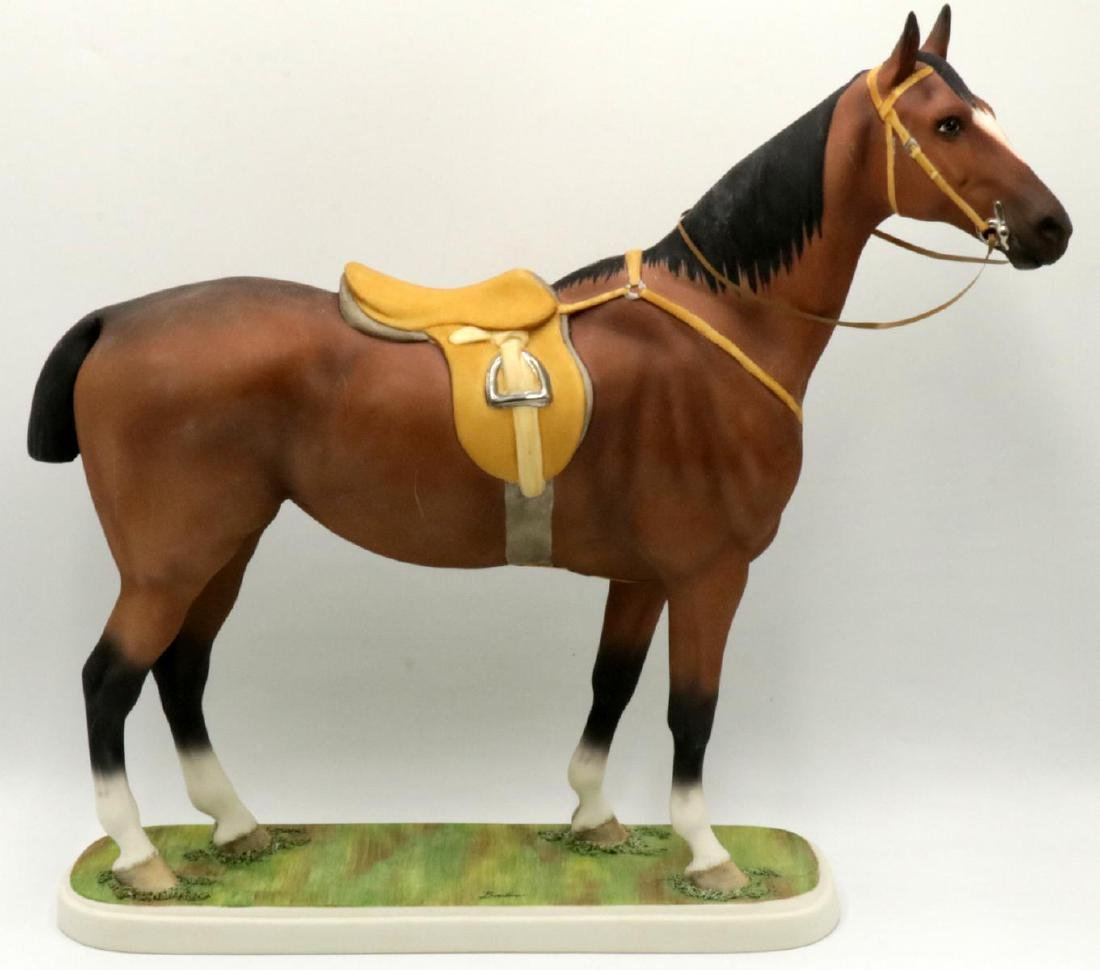 Boehm Bisque Porcelain Hunter Horse Figure