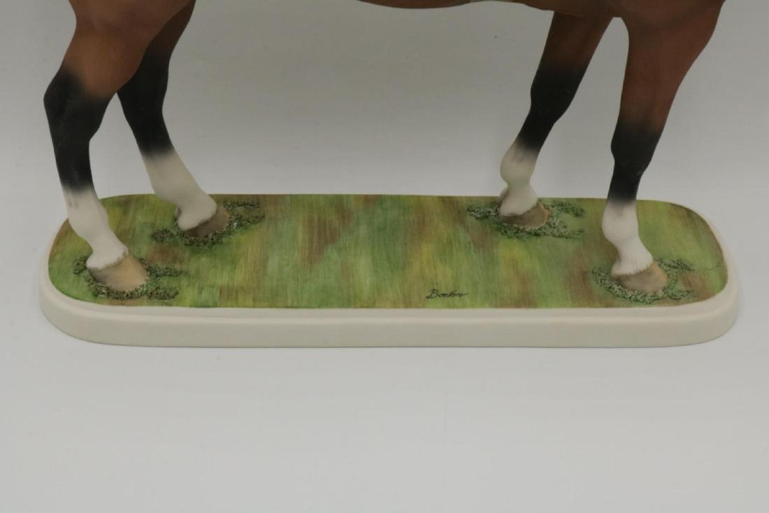 Boehm Bisque Porcelain Hunter Horse Figure - 4