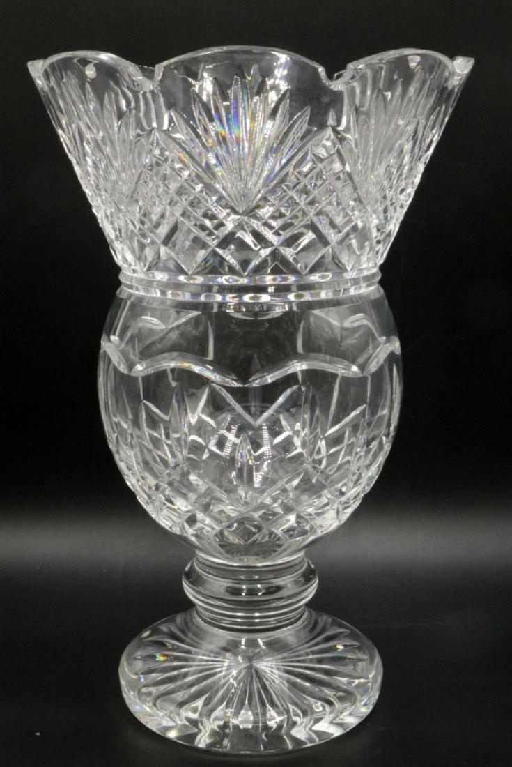 Large Waterford Crystal Footed Vase