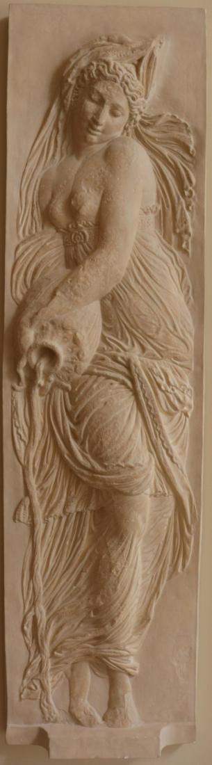 Massive 7.5' Goddess of Water Wall Plaque