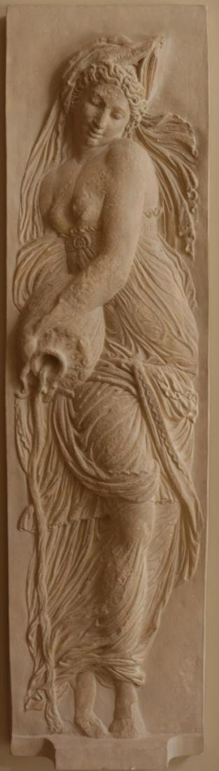 Massive 7.5' Goddess of Water Wall Plaque - 2