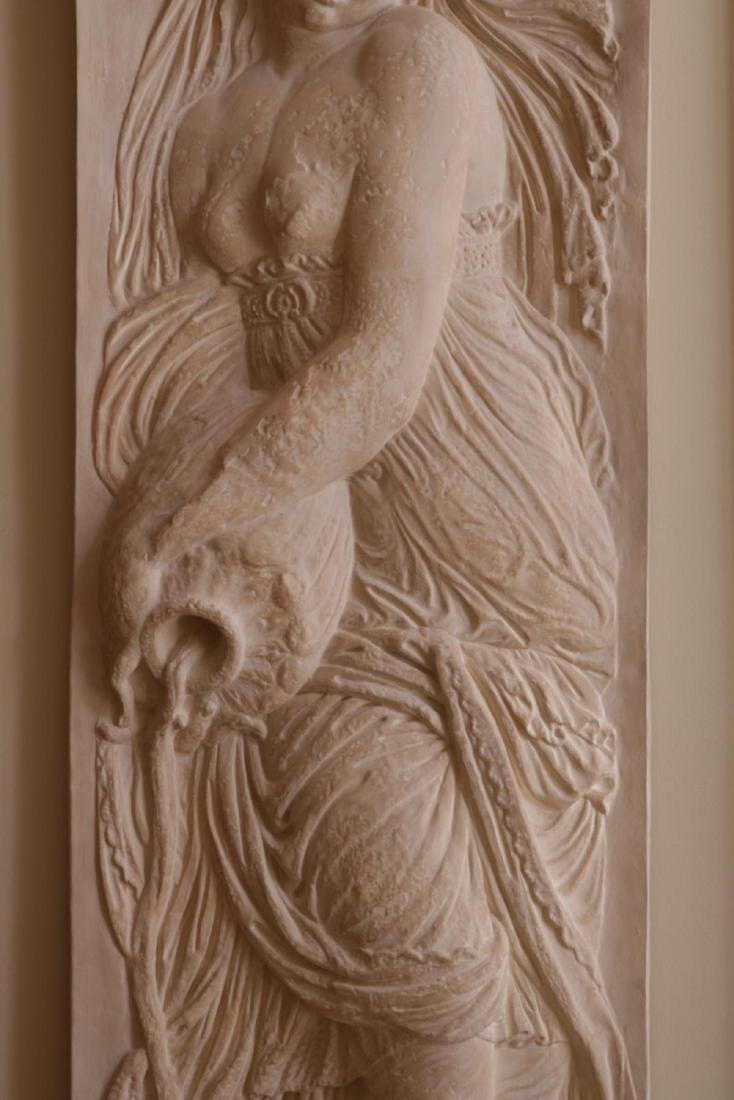 Massive 7.5' Goddess of Water Wall Plaque - 4