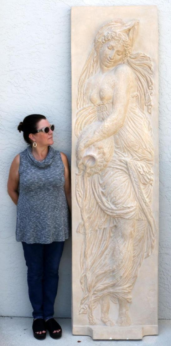 Massive 7.5' Goddess of Water Wall Plaque - 7