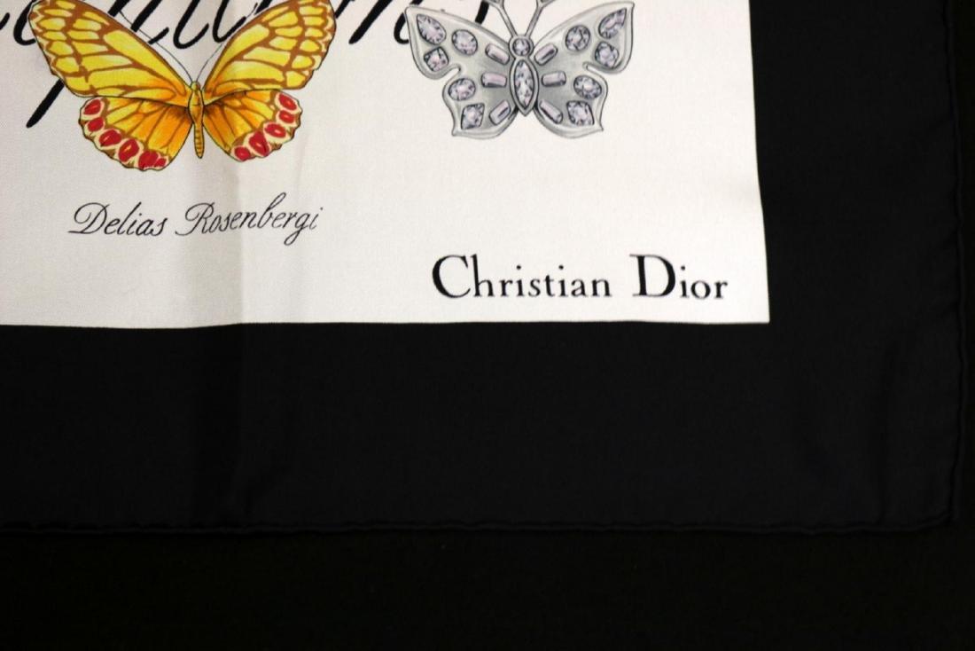 Christian Dior 100% Silk Scarf - 4
