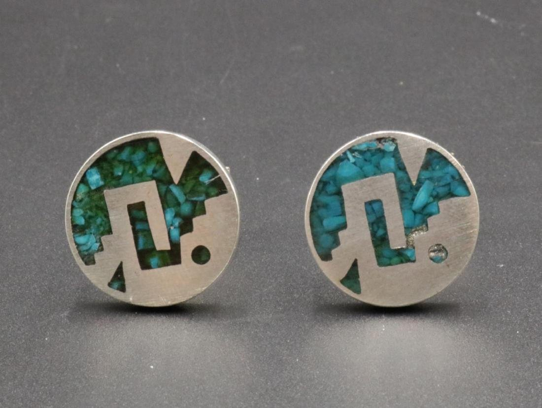 Taxco Sterling & Turquoise Cufflinks