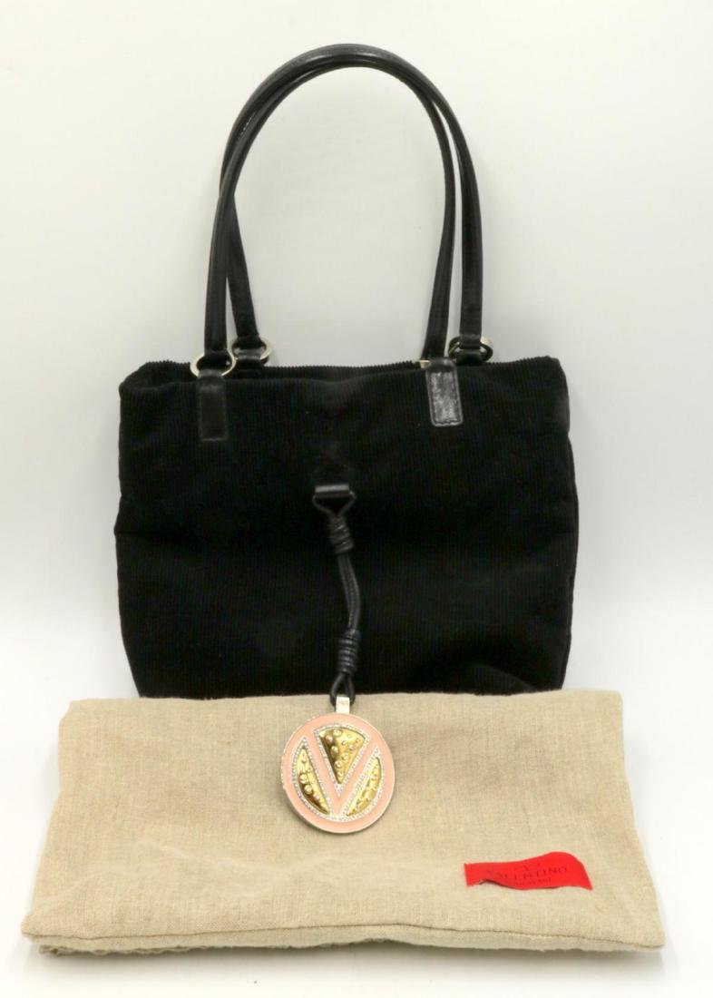 Valentino Garavani Corduroy & Leather Purse