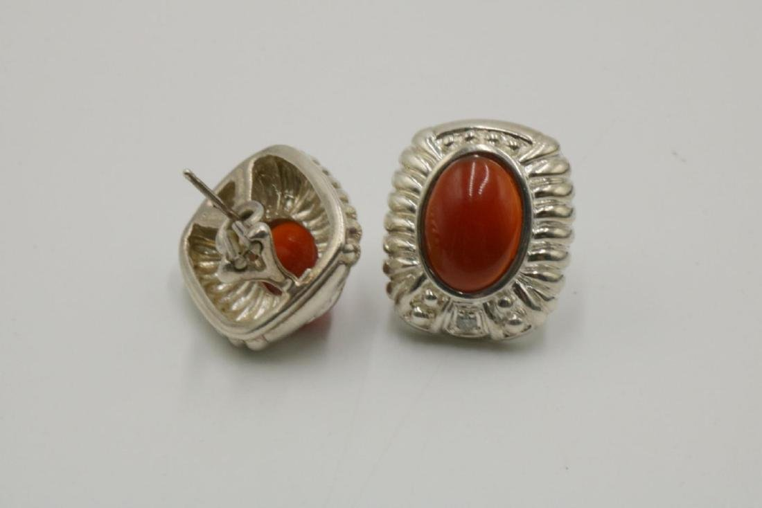 Judith Ripka Sterling & Cabochon Stone Earrings - 2