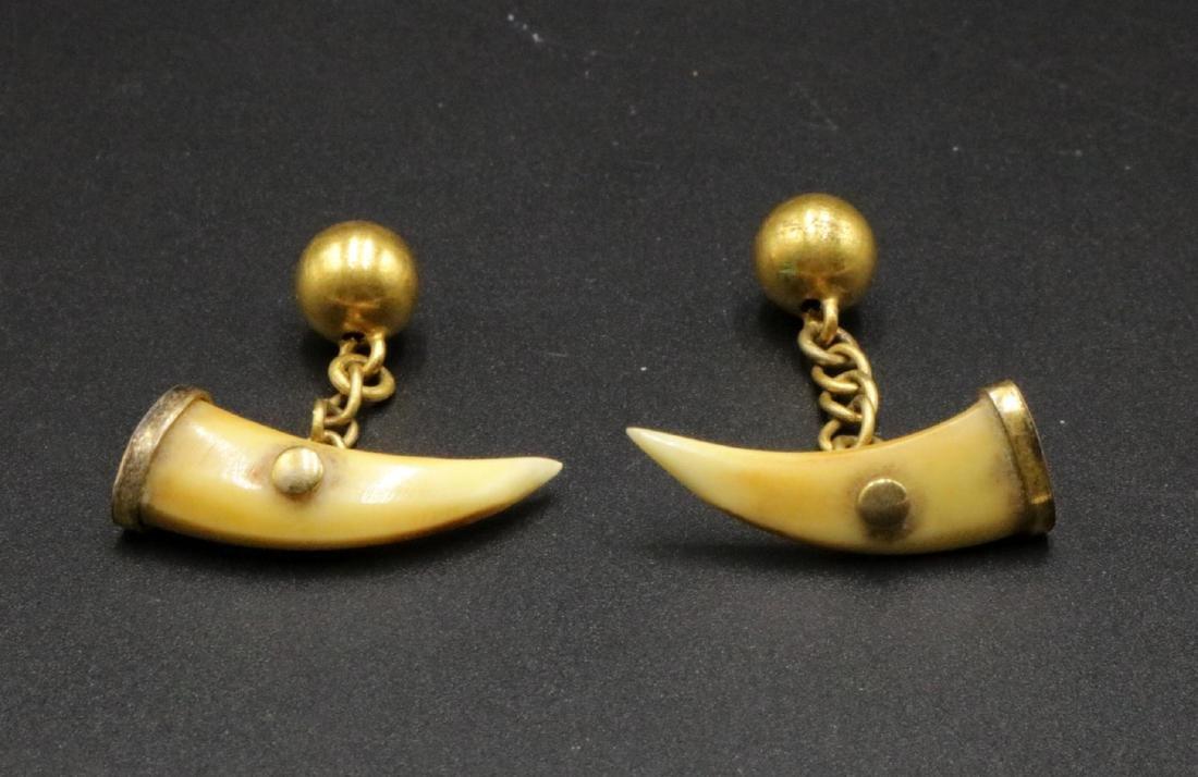 Brass & Bone Cufflinks