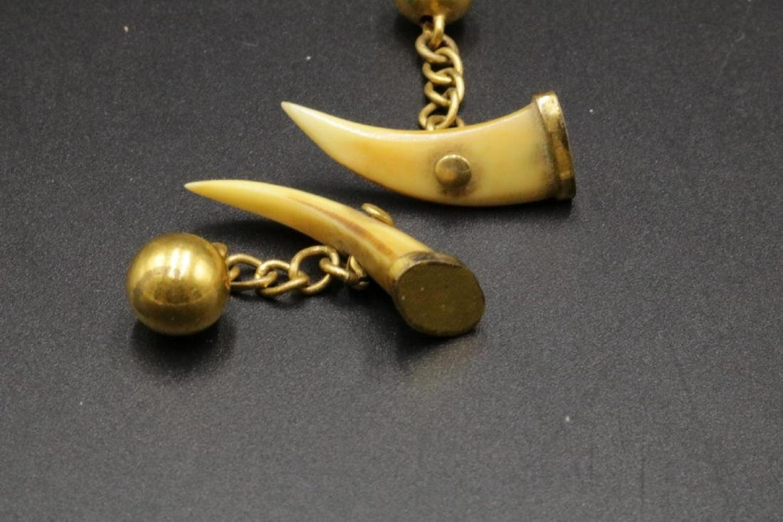 Brass & Bone Cufflinks - 2