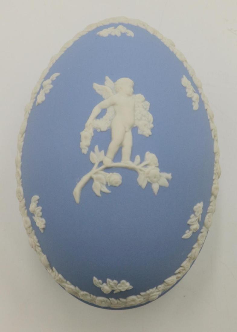 Wedgwood Jasperware Covered Egg Box