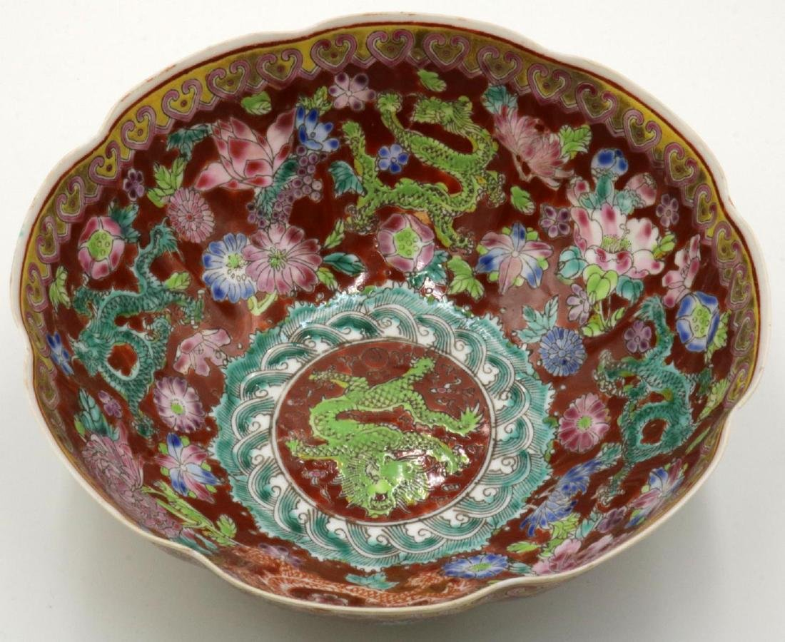 Antique Chinese Hand Painted Egg Shell Bowl