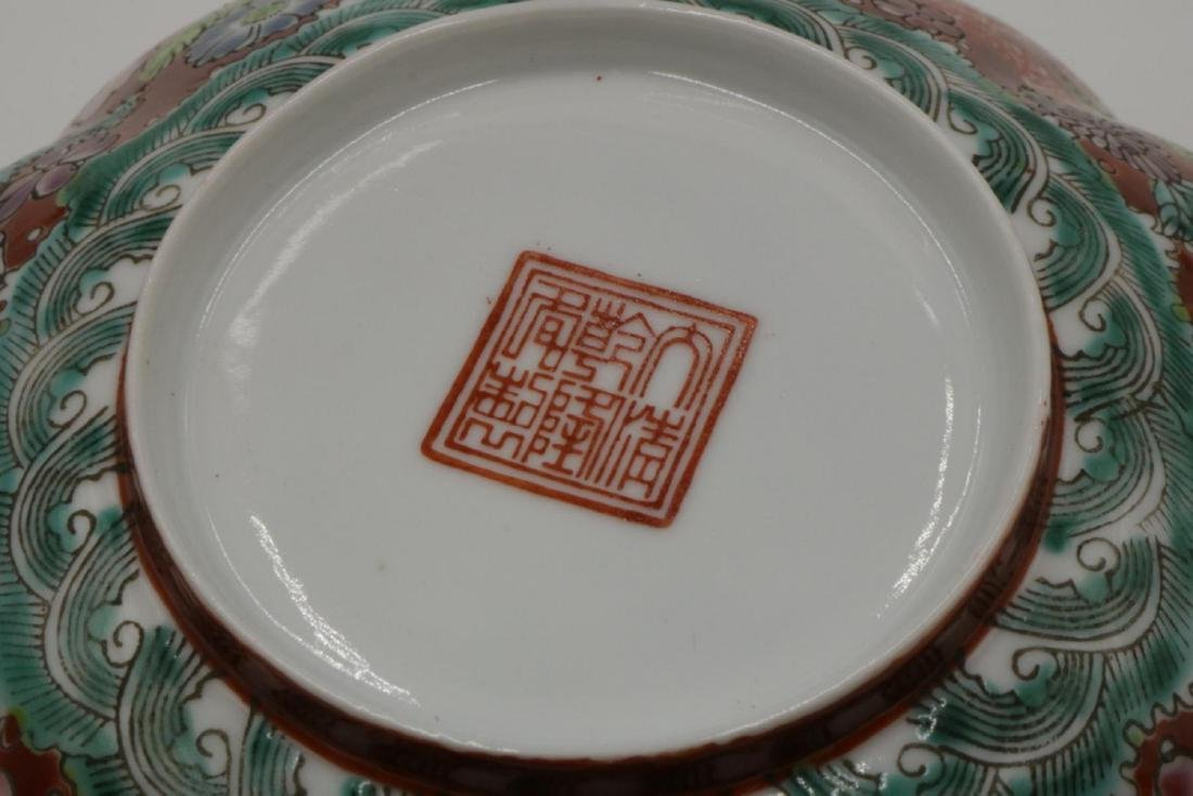 Antique Chinese Hand Painted Egg Shell Bowl - 3