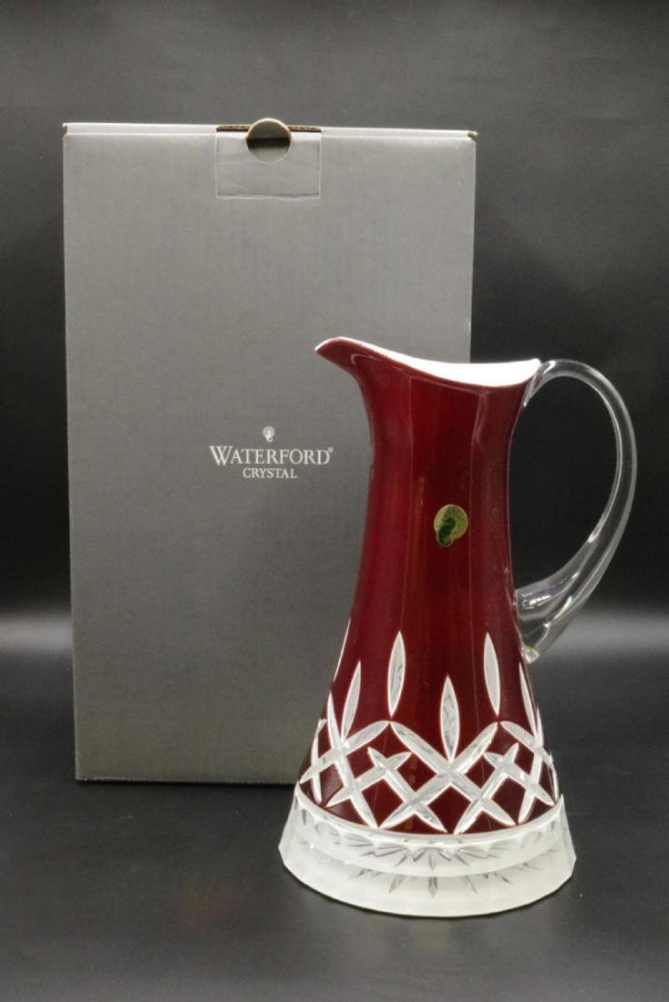 "Waterford ""Lismore"" Red Crystal Pitcher - 4"