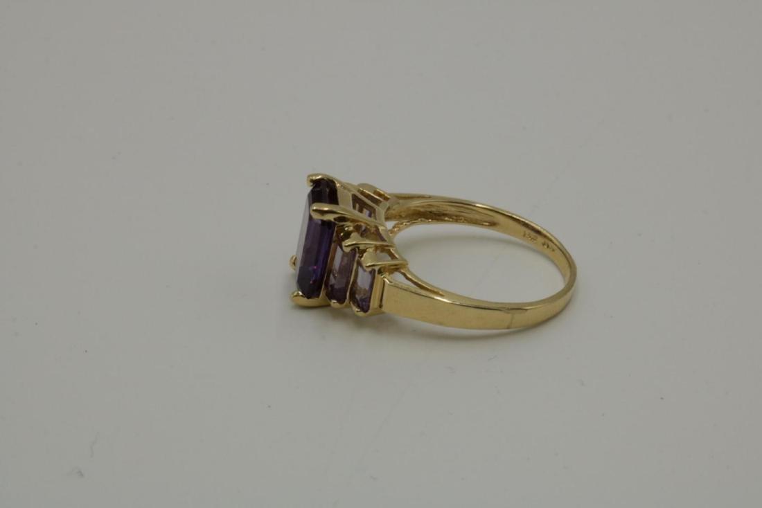 14Kt Amethyst Ring - 2