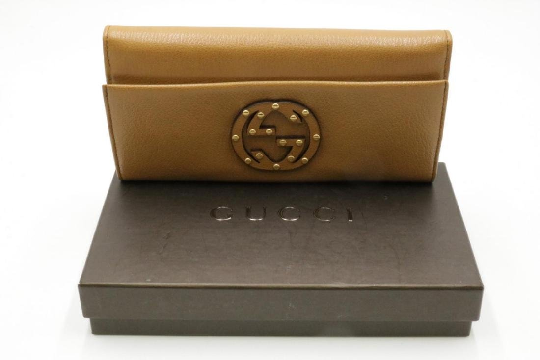 Gucci Brown Leather Ladies Billfold - 3