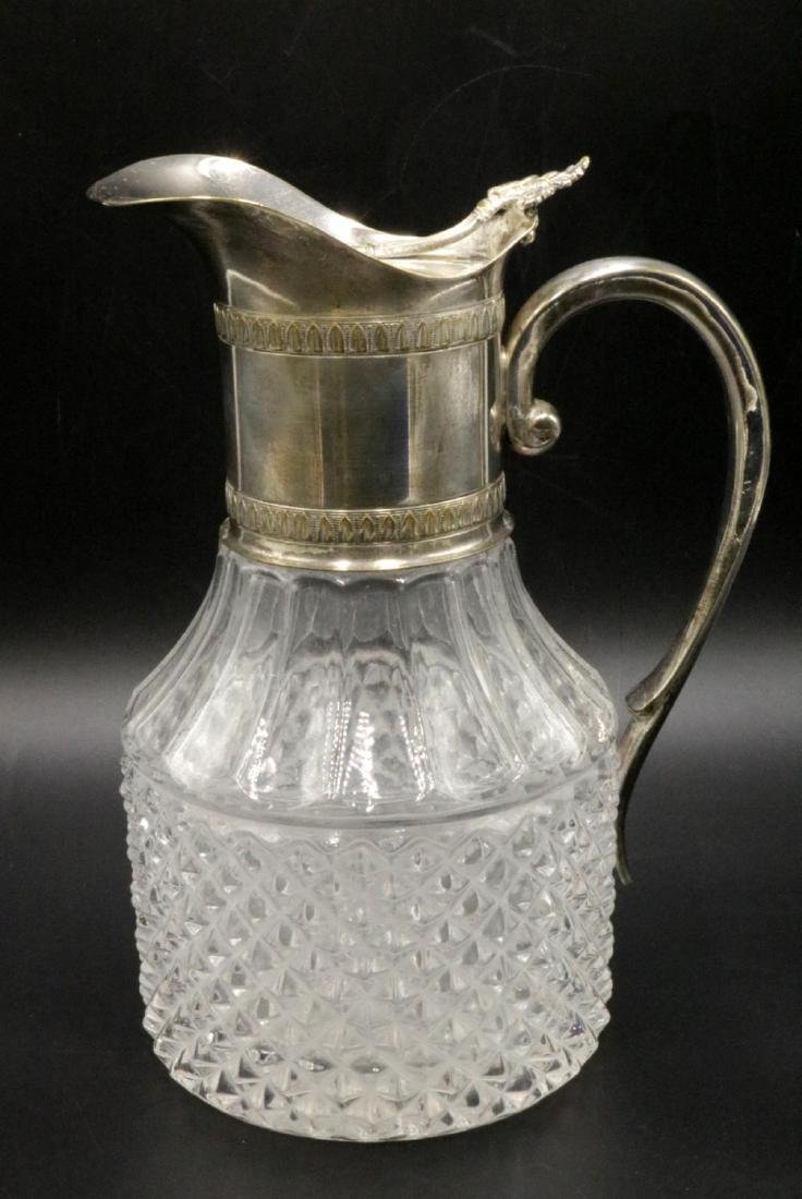 Silver Plated & Glass Pitcher