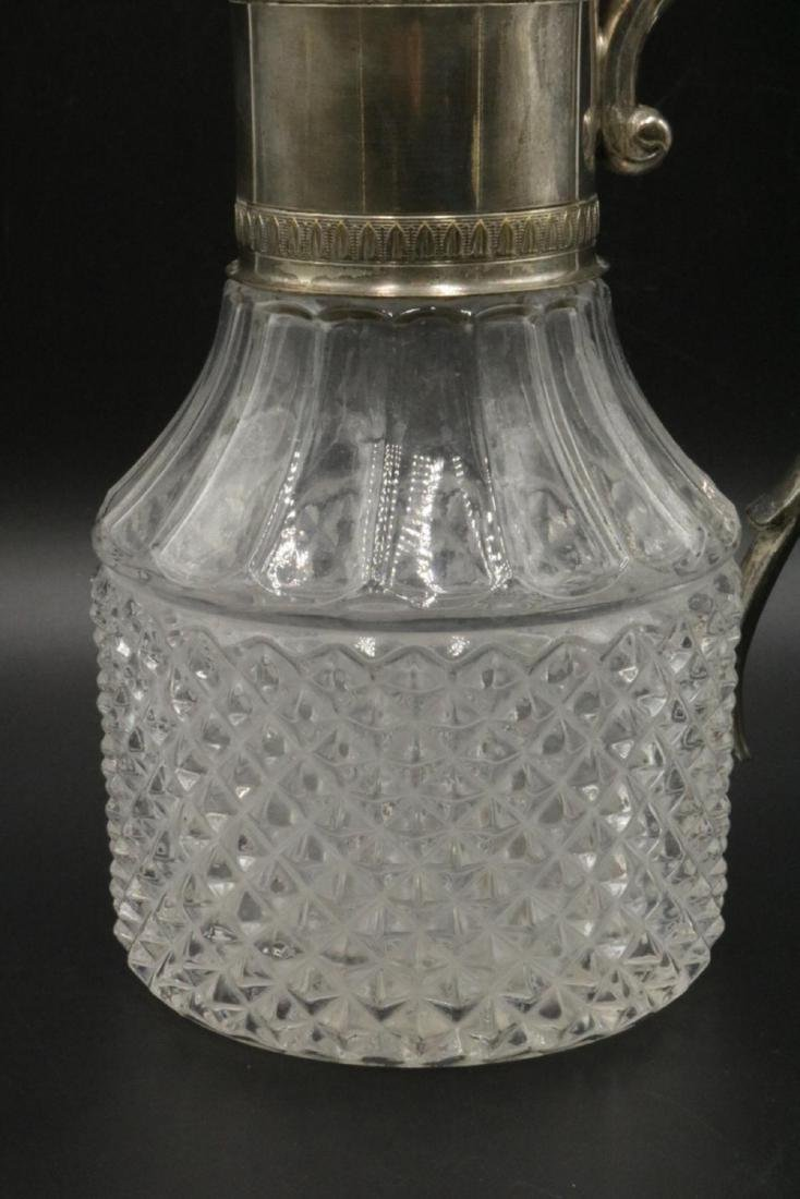 Silver Plated & Glass Pitcher - 3