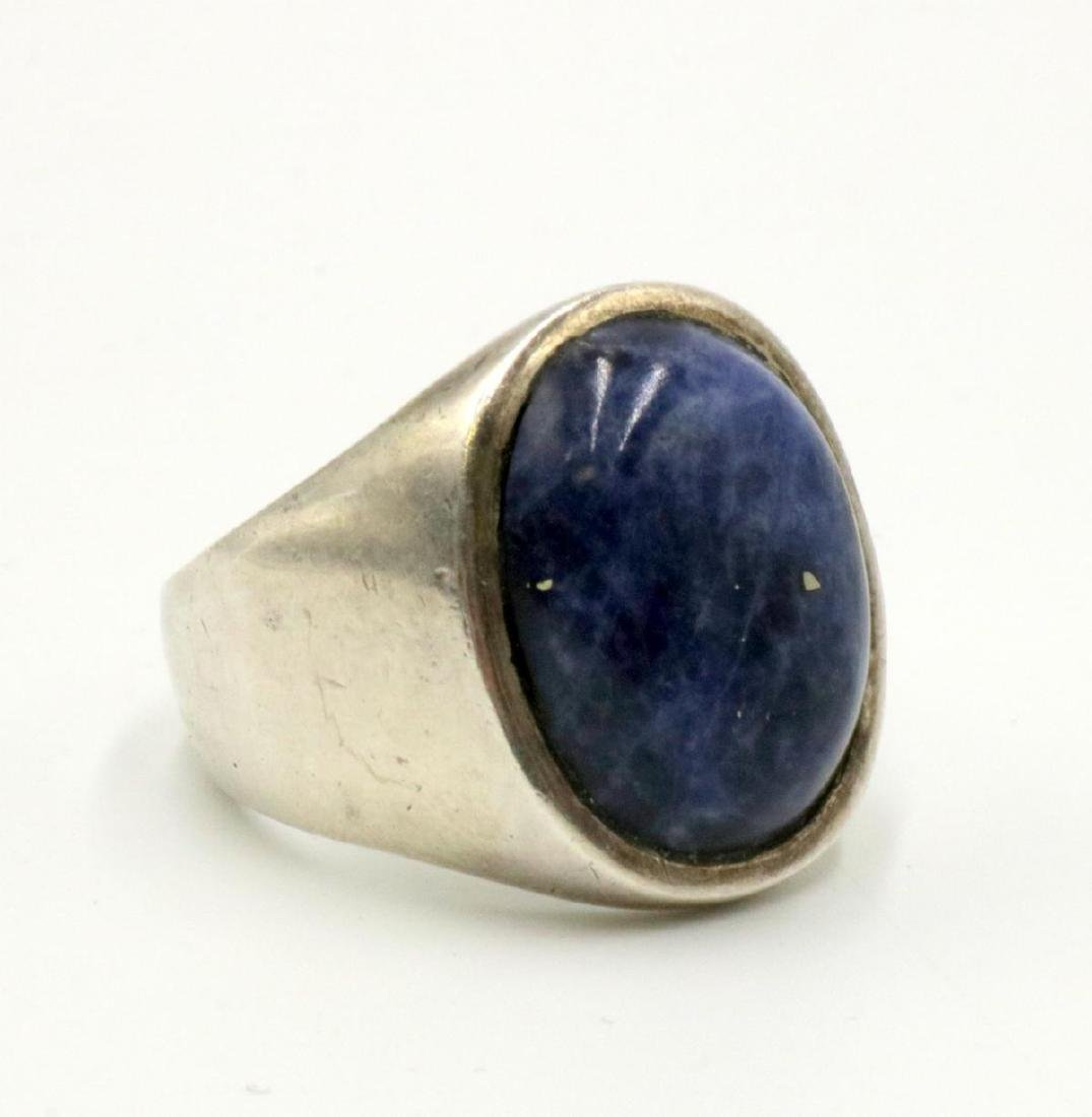 Sterling & Lapis Men's Ring