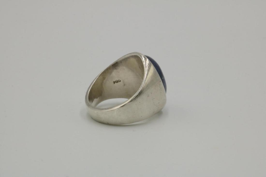 Sterling & Lapis Men's Ring - 2