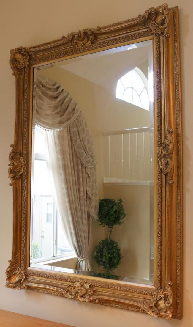 Large Contemporary Gold Leaf Mirror